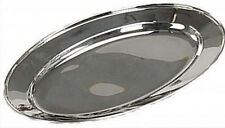 "14"" x 9"" OVAL STAINLESS STEEL SERVING TRAY"