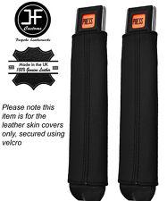 Costura negra 2x cinturón tallo cubiertas de cuero se adapta a Jeep Wrangler Yj 87-90