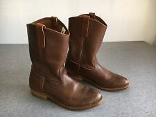 Vintage RED WING Boots Brown Leather Work Motorcycle Cowboy Riding USA Men 9.5