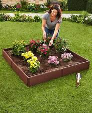 RAISED GARDEN BED SET FLOWERS PLANTS HERBS YARD LAWN OUTDOOR VEGETABLES FRUIT
