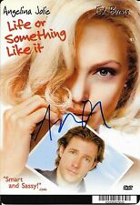 "ANGELINA JOLIE - HAND SIGNED ""LIFE OR SOMETHING LIKE IT"" PROMO CARD AUTO  w/ COA"