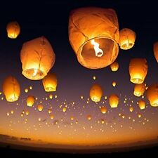 2 PCS Sky Lantern Fire Fly Paper Hot Balloon Wishing Lights Candle Diya
