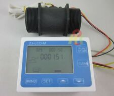 "G1-1/2"" 1.5"" Flow Rate Water Sensor Meter+LCD Digital Display Control Total flow"