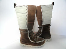 THE NORTH FACE Women's Sisque Tall Brown/Ivory Boots Size 5.5