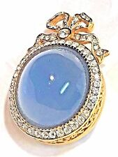 NEW Joan Rivers Rare Star Sapphire Blue Moonstone Pin Brooch Private Collection