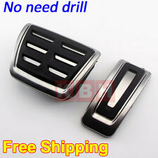 No drilling DSG AT Fuel Brake Pedal Cover for A3 (8V) Octavia MK3 Golf 7 Leon 5F