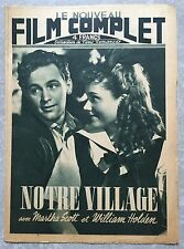 Magazine FILM COMPLET NOTRE VILLAGE Our Town WILLIAM HOLDEN Martha Scott 1946 *