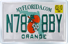 FLORIDA USA LICENSE PLATE FRIDGE MAGNET SOUVENIR IMAN NEVERA
