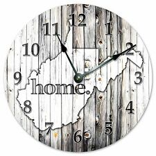 "WEST VIRGINIA RUSTIC HOME STATE CLOCK - Large 10.5"" Wall Clock - 2258"