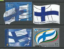 ˳˳ ҉ ˳˳FI08 Finland Flags & National Emblems - 4 different 2002-2011