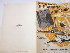 day o, day o_THE BANANA BOAT SONG_spartito musicale originale italiano del 1958