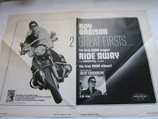 ROY ORBISON Cashbox magazine ad 14x20