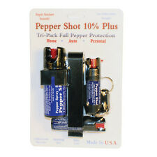 PEPPER SHOT TRI-PACK 10% PEPPER SPRAY for Home, Auto and Personal