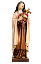 St. Theresia v. Lisieux Heiligenfigur aus Holz 30 cm