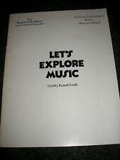SPARTITO Libro-Esploriamo la musica 42 brani per Pianoforte 38 pagine 1979