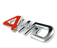 CAR SUV Parts 4WD Metal Red Trunk Lid Fender Emblem Badge Sticker Logo Decal