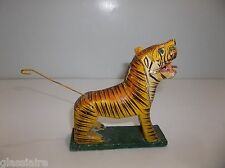 Vintage Mexican Folk Art TIGER Paper Mache Hand Painted Circus Animal