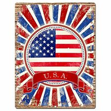 PP1030 USA AMERICA Flag Chic Sign Home Shop Store Room Wall Decor