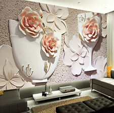 3D Wallpaper Bedroom Mural Roll Modern Luxury Embossed Flower Wall Background
