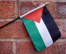 "PALESTINE SMALL HAND WAVING FLAG 6""X4"" flags PALESTINIAN GAZA"