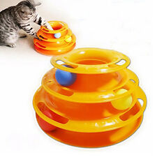 Bluelans Cats Pet Trilaminar Disk Turnplate Balls Kitten Play Teaser Games Toys