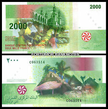 COMOROS COMORES 2000 FRANCS 2005 UNCIRCULATED P.17