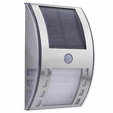 Solar Powered Bright Led Wireless PIR Motion Sensor Security Shed Wall Light UK