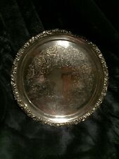 "Ellis Barker Silverplate 10"" Footed Tray"