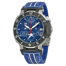 Tissot T Race  Chronograph Blue Dial Blue Silicone Mens Watch T0484172704700