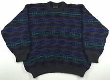 Vintage Multi Colored Coogi Sweater Size L Authentic Austrailia Pure Wool 90's