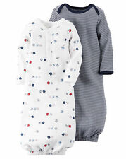 New Carter's 2 Pack Sleep Bag Or Gown size Newborn NWT Gowns Football Sports