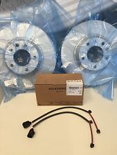 NEW OEM AUDI Q7 FRONT PADS , ROTORS AND WEAR SENSORS  COMPLETE FRONT KIT