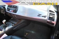 BMW Z4 Z-4 Z 4 e85 INTERIOR SILVER ALUMINUM DASH TRIM KIT SET 2003 2004 04 2005