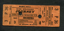 1978 Journey Montrose Unused Full Concert Ticket Cleveland OH Infinity