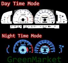 96-98 Toyota 4Runner SR5 WHITE FACE BLUE INDIGLO GLOW GAUGES