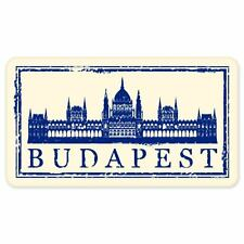 "Budapest travel car bumper window suitcase sticker 6"" x 3"""