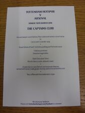 16/03/2014 tottenham hotspur/arsenal-les capitaines club, couleur simple A5 voiture