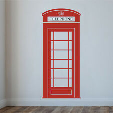 LONDON PHONE BOX Wall Decal Stickers Home room Decor Art Removable (L)