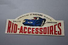 MQ Ancien autocollant RIO accessoires rallye compétition saint Nazaire voiture