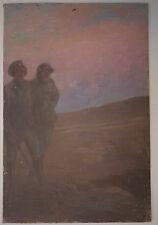 Tableau Ancien Huile Champagne Soldat Guerre 14/18 MAURICE PERRET-CARNOT 1917