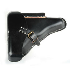WWII GERMAN P08 P-08 PATTERN 1908 LUGER LEATHER HARDSHELL HOLSTER BLACK