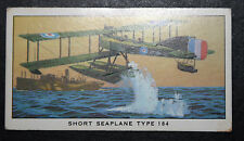 Short Seaplane Type 184  World War 1 Royal Naval Air Service    Colour Card