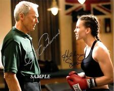 CLINT EASTWOOD HILARY SWANK REPRINT AUTOGRAPHED SIGNED PICTURE PHOTO RP AUTO
