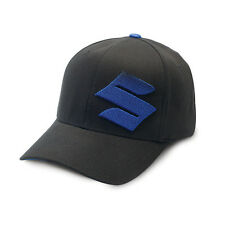 "Suzuki 3D ""S"" Cap in Black/BLue - Size Large/X-Large - Brand New"