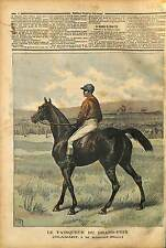 Grand Prix de Paris jockey T. Lane winner of horse race  HORSE Clamart 1891