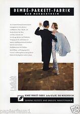 Parkett Bembé Jucker Bad Mergentheim XL Reklame 1956 Werbung älteste Deutschland