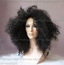 Diana Ross Style Black Afro Spiral Curls Fizz  Wig/wigs