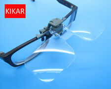 KIKAR Clip-on Flip-up Magnifying Glass 2x Power 4 Diopter Fly Fishing Tying Kit
