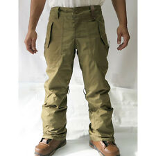 HOLDEN Field WATERPROOF Cargo SNOWBOARD PANTS Men sz SMALL Ski WINTER Army OLIVE