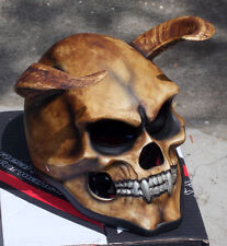 Motorcycle Helmet Skull Hell's Goat Evil Devil Goat 3D Horns Sleepy Hollow NEW